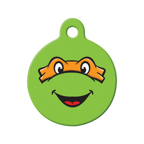 Michelangelo TMNT Fan Art  Circle Pet ID Tag