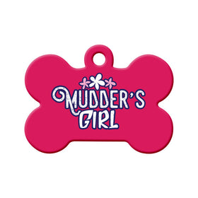 Newfoundland Saying Mudder's Girl Bone Pet ID Tag