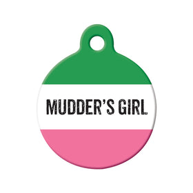 Mudder's Girl Republic of NL Circle Pet ID Tag