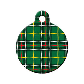 Newfoundland Tartan Pattern Circle Pet ID Tag
