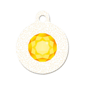 November Birthstone Circle Pet ID Tag