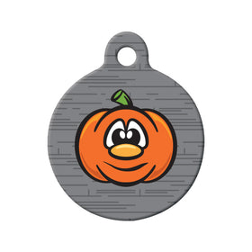 Pumpkin Circle Pet ID Tag