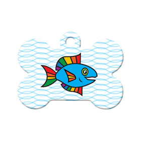 Rainbow Fish Circle Pet ID Tag