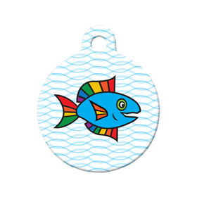 Rainbow Fish Bone Pet ID Tag