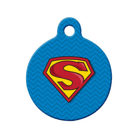 Superman, Supergirl, Superdog or Supercat Circle Pet ID Tag
