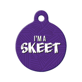 I'm a Skeet Circle Pet ID Tag