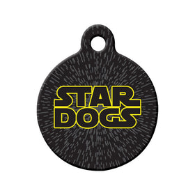 Star Dogs Circle Pet ID Tag