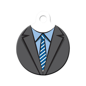 Suit & Tie Formal Wear Circle Pet ID Tag