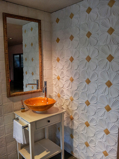 Relief Cement Tiles Offer Relaxed Feel