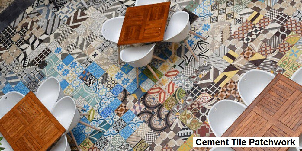 Cement Tile Patchwork Tiles are Stocked for Quick Ship