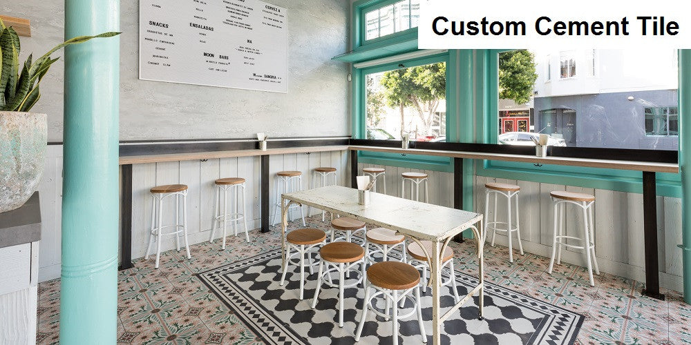 Custom Cement Tile Design was Created for Media Noche in San Francisco