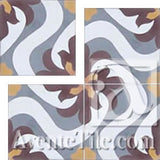 Cuban Heritage Design 150 1A Encaustic Cement Tile