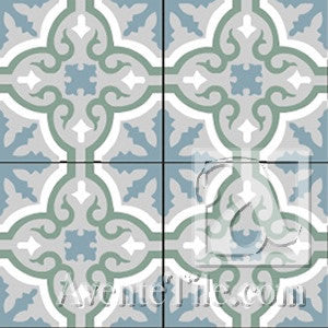 "Traditional Neiba D 8"" x 8"" Cement Tile"