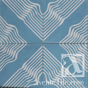 "Artist Series Tania Marmolejo Wave 1B 10"" x 10"" Cement Tile"