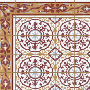 "Cuban Heritage Design 140 1A 8""x8"" Encaustic Cement Tile"