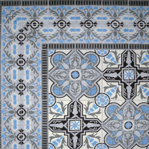 "Cuban Heritage Design 110 2B 8""x8"" Encaustic Cement Tile"