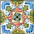 "Spanish Andalucia 4"" x 4"" Hand Painted Ceramic Tile"