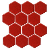 "Malibu Field 4"" Hexagon Sangria #7624C Ceramic Tile"