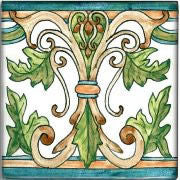 "Spanish Tile | Hand-painted Albacete 6""x6"""