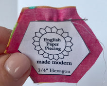 English Paper PIecing Made Modern straight stitch by hand