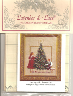 Lavender & Lace Oh Christmas Tree L&L24 cross stitch