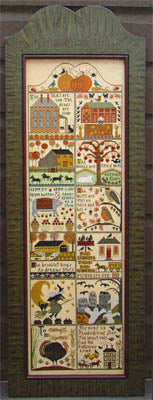 Carriage House Samplings Autumn at Hawk Run Hollow cross stitch pattern