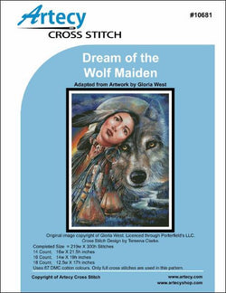 Artesy Dream of the wolf maiden cross stitch pattern