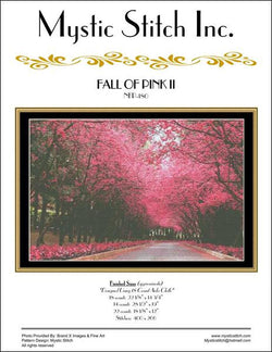 Mystic stitch Fall of Pink II cross stitch pattern