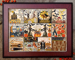 Carriage House Samplings Halloween at Hawk Run Hollow cross stitch pattern