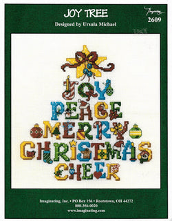 Imaginating Joy Tree 2609 Christmas cross stitch pattern
