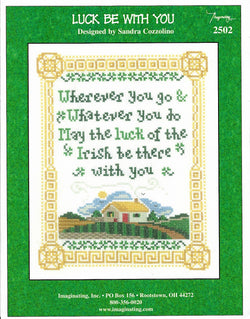 Imaginating Luck be with you irish blessing 2502 cross stitch pattern
