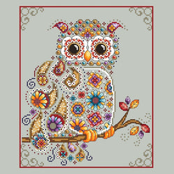 Shannon Christine Designs Paisley Owl cross stitch pattern
