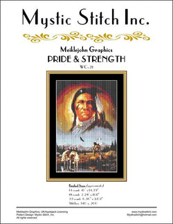 Mystic Stitch Pride and Strength native american cross stitch pattern
