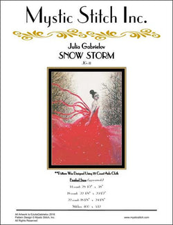 Mystic stitch Snow storm cross stitch pattern