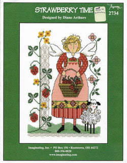 Imaginating Strawberry Time 2734 cross stitch pattern