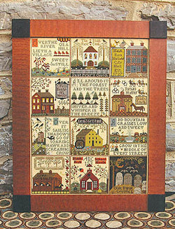 Carriage House Samplings Village of Hawk Run Hollow cross stitch pattern