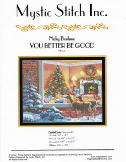 Mystic Stitch You better be good NB-06 cross stitch pattern