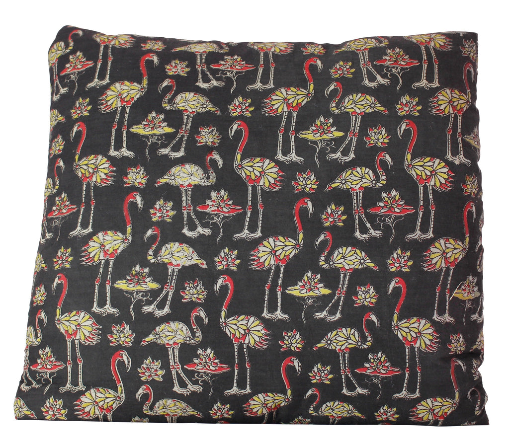 Flock of Flamingos Secret Pillow in Black