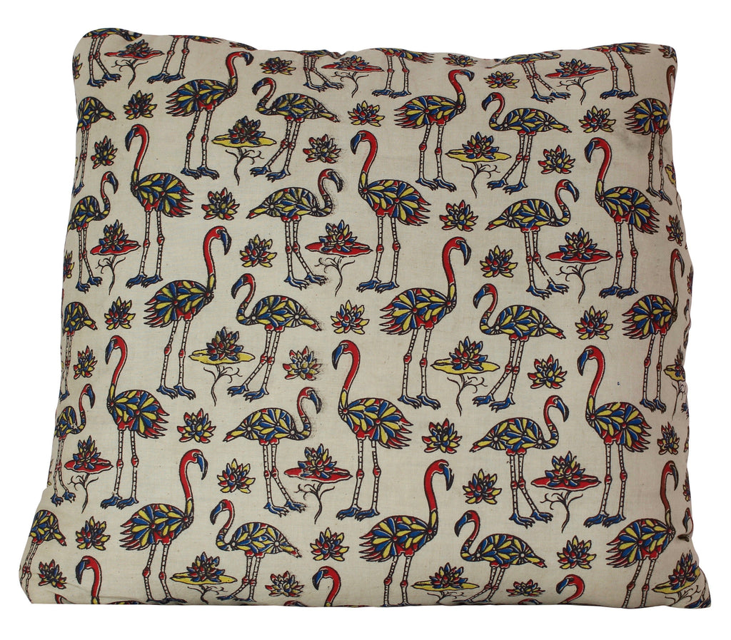 Flock of Flamingos Secret Pillow in Cream