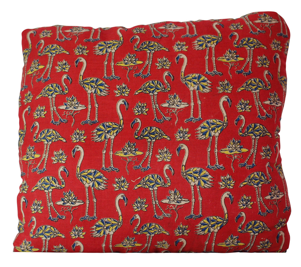 Flock of Flamingos Secret Pillow in Red