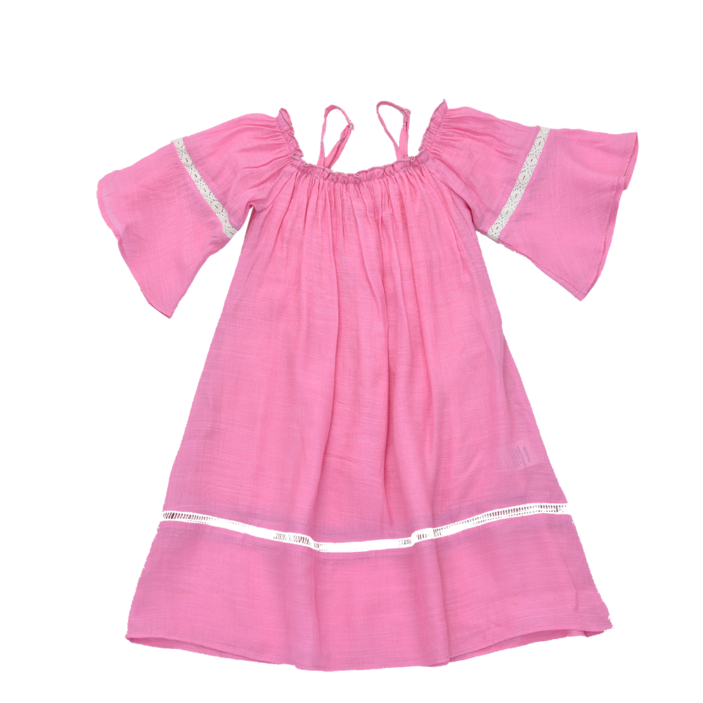 PINK- MADELINE OFF-SHOULDER DRESS