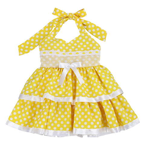 FISHING for POLKA DOTS-YELLOW