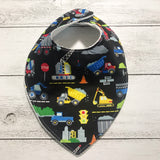 Construction Vehicles Bandana Bib