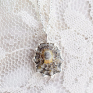 REAL LIMPET SHELL NECKLACE IN FINE SILVER
