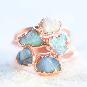 Rough opal ring