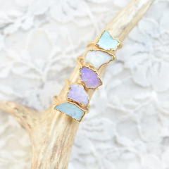 RAW OPAL RING IN GOLD & RECYCLED COPPER