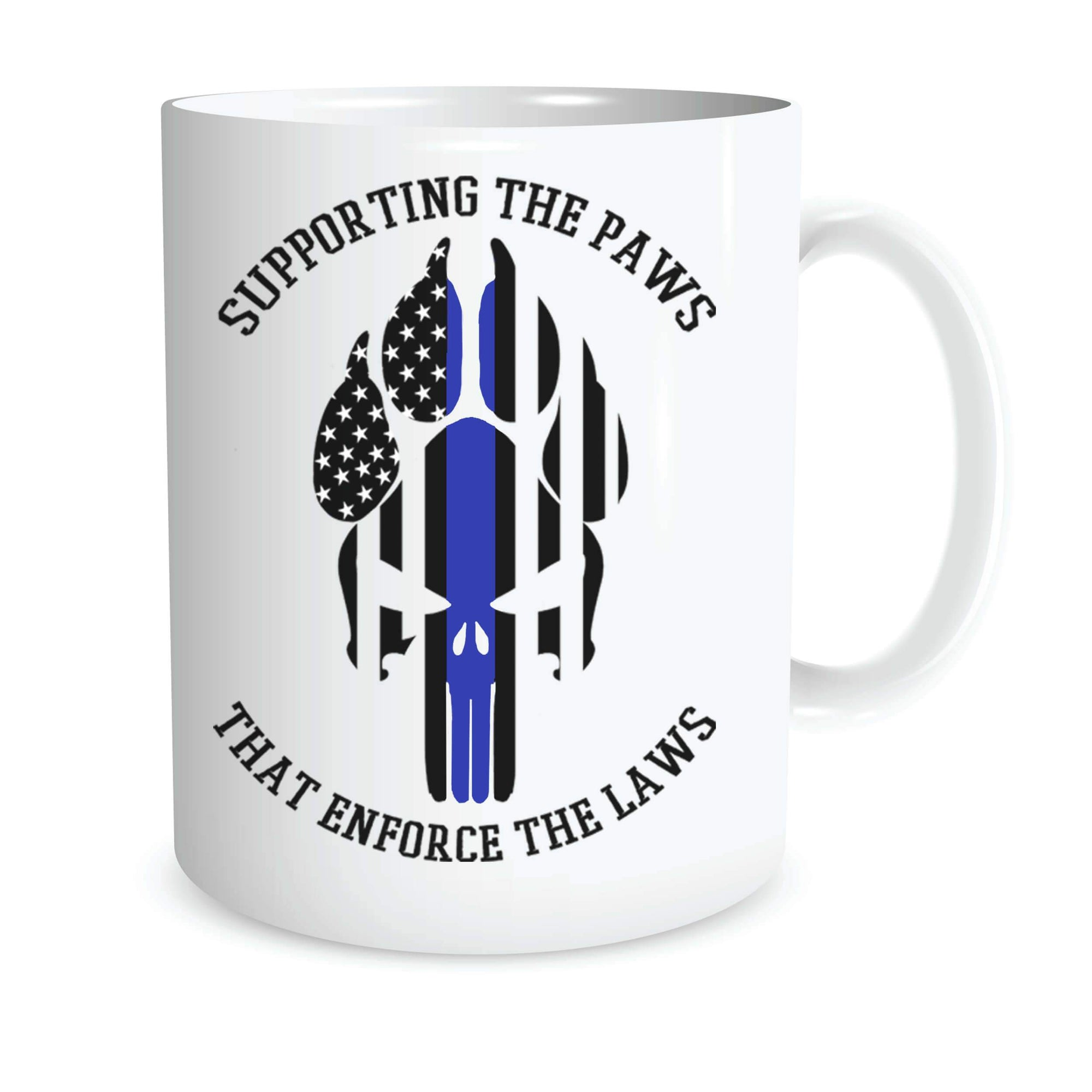 SUPPORTING THE PAWS K9 COFFEE MUG