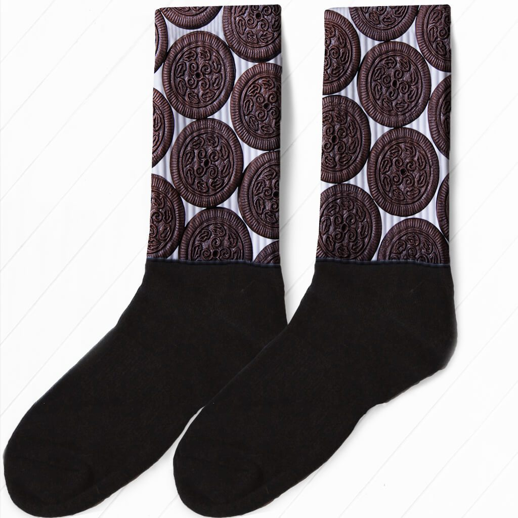 GOT MILK? SANDWICH COOKIE ATHLETIC OR COMPRESSION SOCKS
