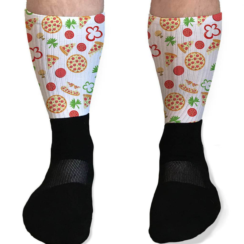 GRAB A SLICE PIZZA TOPPINGS GRAPHIC ATHLETIC OR COMPRESSION SOCKS