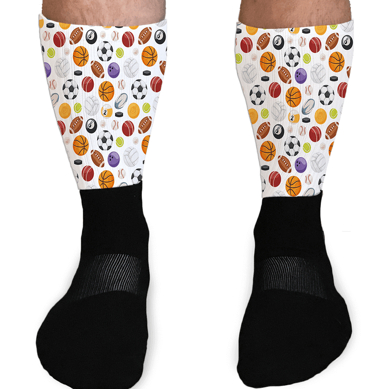 HAVE A BALL SPORTS BALL GRAPHIC ATHLETIC OR COMPRESSION SOCKS